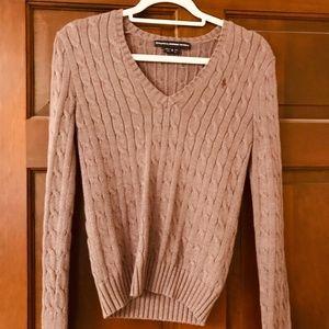 Ralph Lauren Sport Purple Cable Knit Sweater